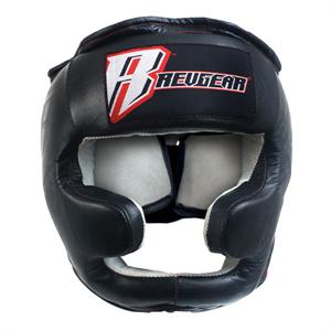 Revgear Leather Headgear with Chin Protection